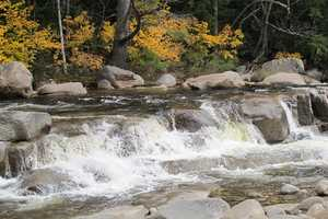 8 tie. Lower Falls at the Kancamagus