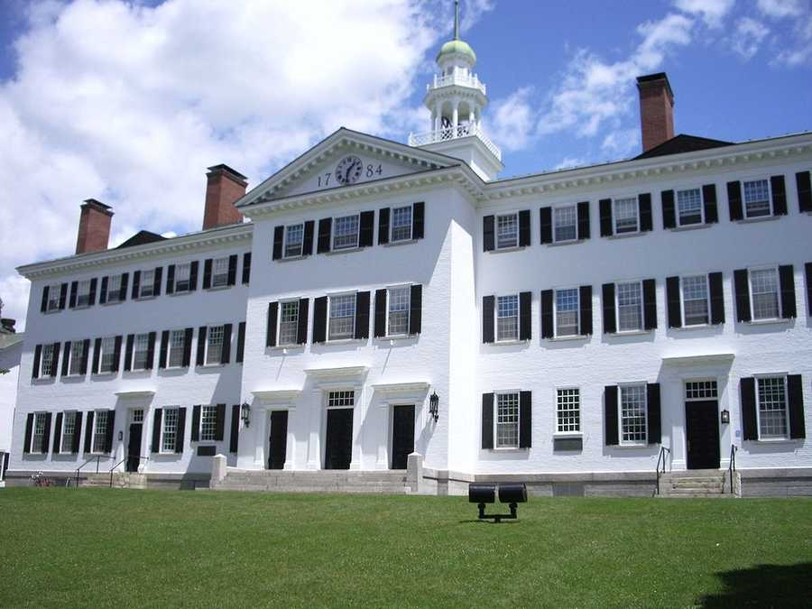 #24 (tie) Dartmouth College/ New HampshireCost of degree:  $189,080 / Early career salary:  $51,900/yr