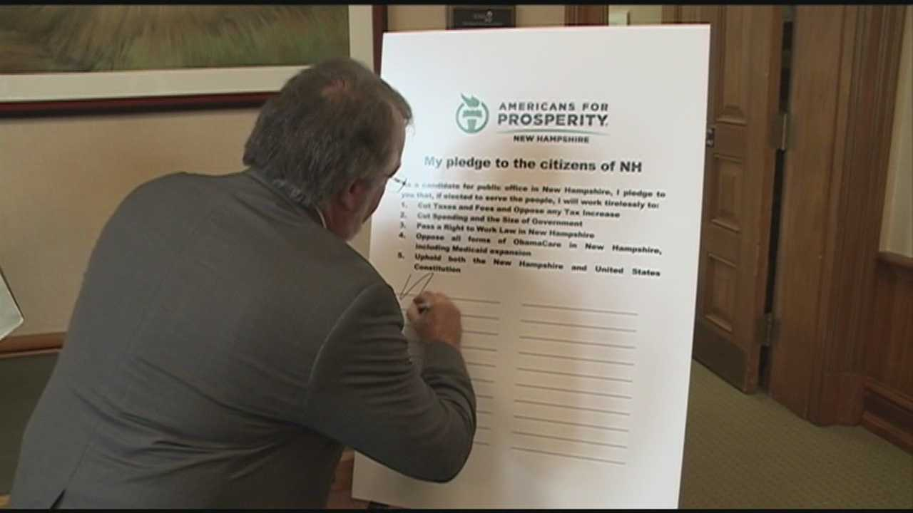 GOP candidates sign Americans for Prosperity pledge