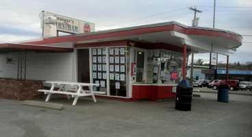 7 tie. Sawyer's Dairy Bar in Newtown