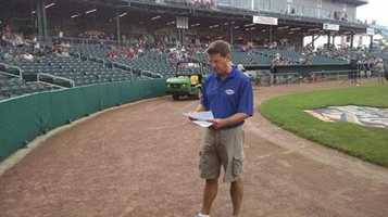 News 9's Jamie Staton accompanied CHaD families as they took batting practice and threw out the first pitch.