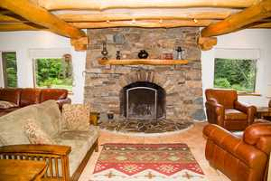The home also has two fireplaces.