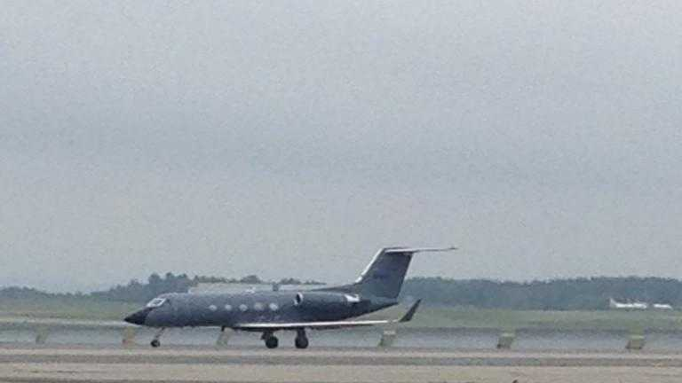 A Gulfstream 3 transporting one American infected with Ebola stopped at the Bangor International Airport on Saturday for refueling and supplies. The air ambulance was in transit from Libya to Emory University in Georgia.
