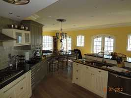 The stunning kitchen begs for a good cook.
