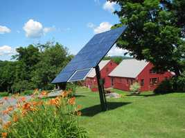 They did the math and found that alternative forms of power would be less expensive than tapping into NH Electric's grid. So they got creative and up went the solar panels.