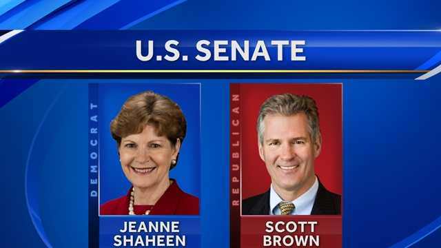 Republican Scott Brown is challenging Sen. Jeanne Shaheen in the general election.