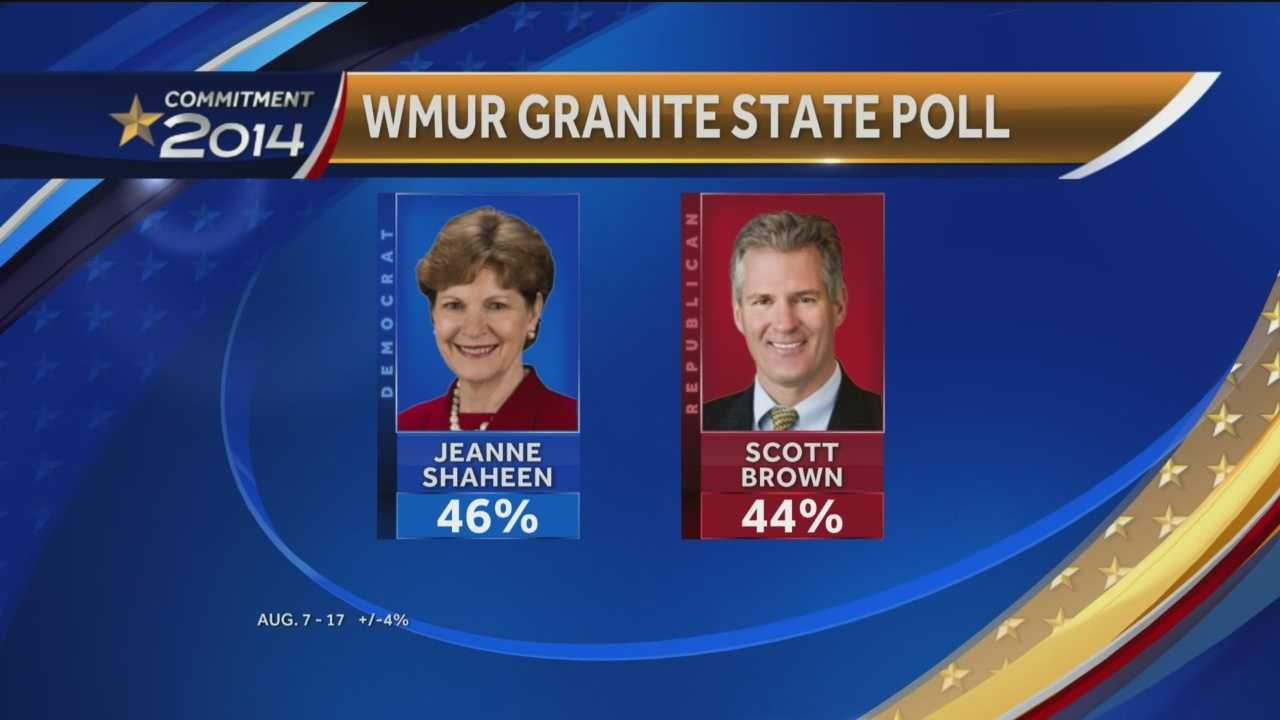 Jeanne Shaheen and Scott Brown
