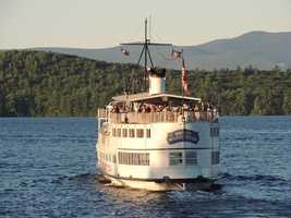 Enjoy a scenic cruise across Lake Winnipesaukee on the Mount Washington Cruise