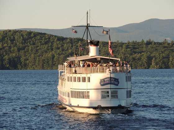 Enjoy a scenic cruise across Lake Winnipesaukee on the Mount Washington Cruise