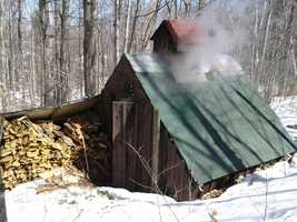 Visit one of the many sugar houses located across the state during sugaring season