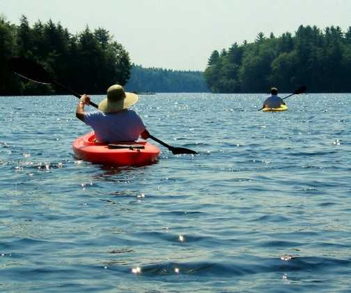 Take a kayak and enjoy one of the many lakes and ponds located across the state