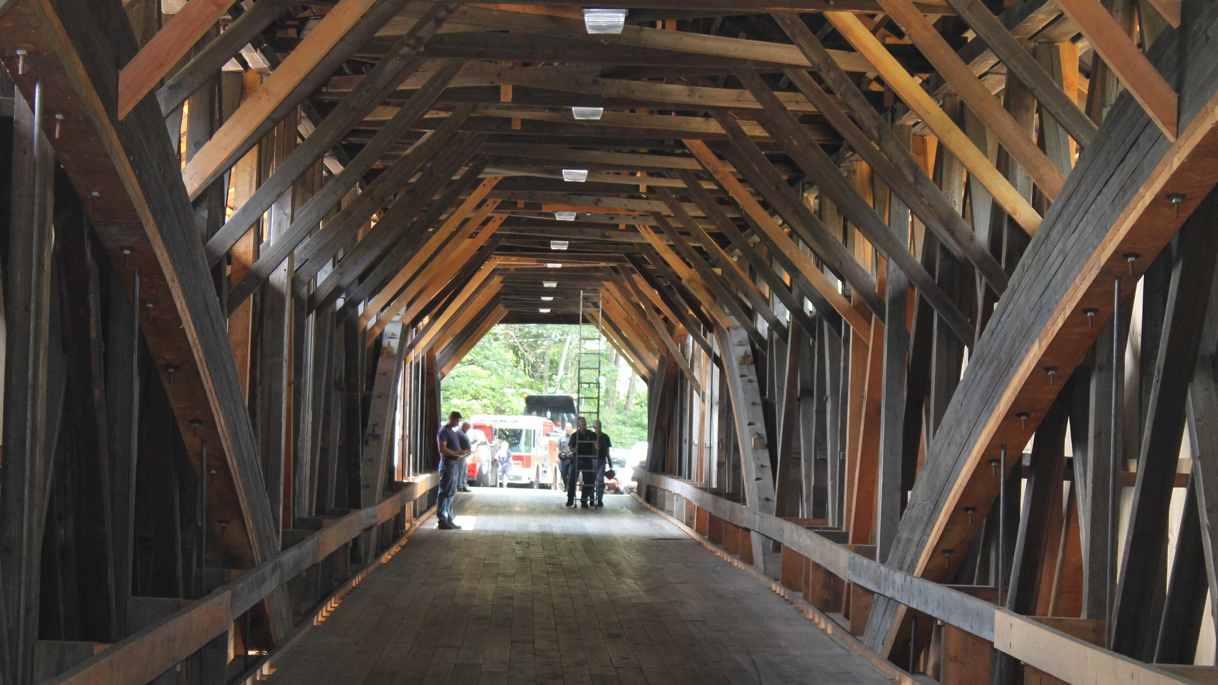 Campton Bridge damaged by box truck