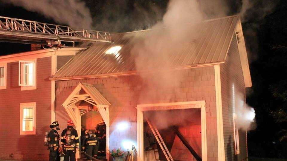 Claremont fire responded to a garage fire at 22 Chestnut Street early this morning.