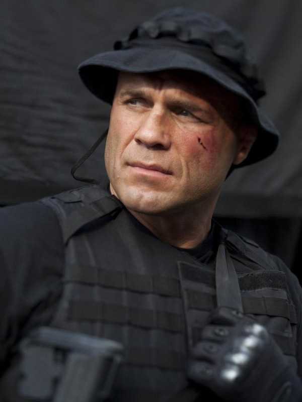 UFC / MMA fighter Randy Couture&#x3B; partnered with Karina Smirnoff
