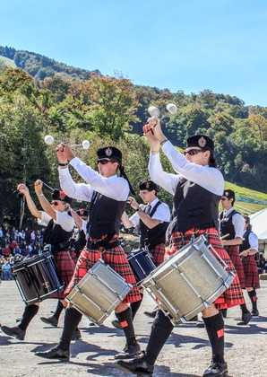 Take part in the New Hampshire Highland Games celebrating Scottish heritage.