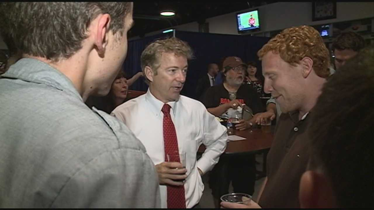 Kentucky Senator Rand Paul, a possible Republican candidate for president in 2016, is continuing his New Hampshire trip.