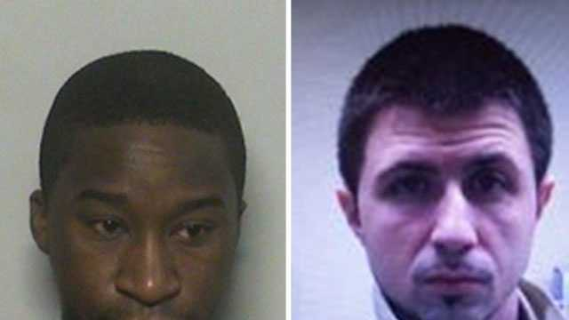 Michael Cenat (left) and Eric St. Pierre were identified as suspects in a robbery at a Manchester hotel.