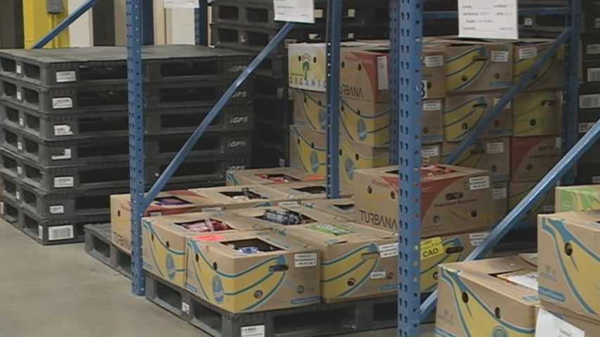 NH Food Bank's shelves are nearly empty. They're hoping to win a grant from Walmart.