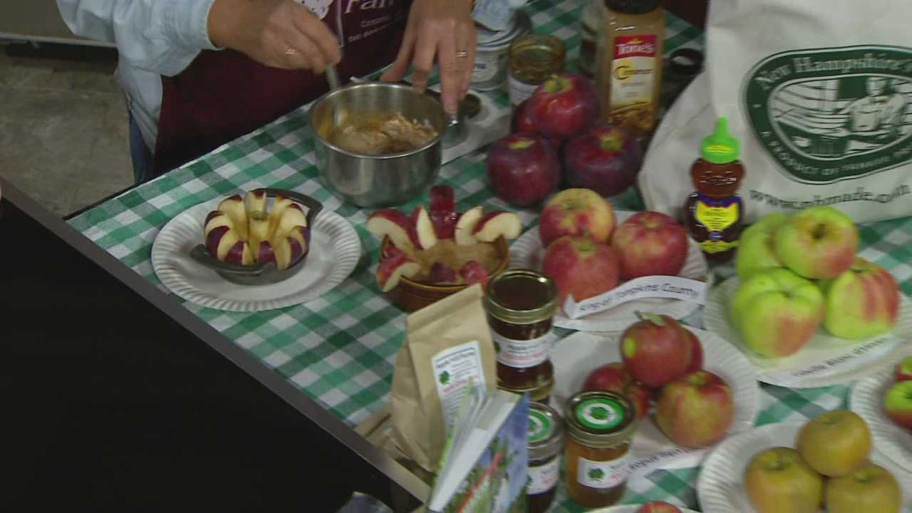 Diane Souther of Apple Hill Farm shows how to make a tasty dip to serve with apples.