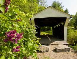 Prentiss Bridge in Landgon, N.H.Constructed in 1791. This is the smallest covered bridge in the state.