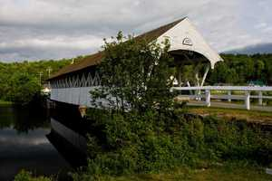 Groveton Bridge in Northumberland, N.H.Constructed in 1852.When U.S. Route 3 was reconstructed in 1939, the bridge was bypassed. It was later repaired by Milton Graton and his son in 1964-1965.