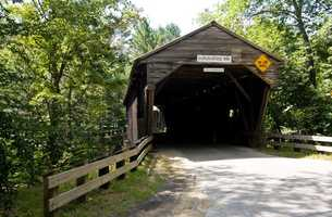 Durgin Bridge in Sanwich, N.H.Constructed in 1869.The current bridge is the fourth one on this site. At one time, it served as a link in the underground railroad between Sandwich and North Conway.
