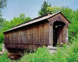 Clark's Bridge in North Woodstock, N.H.Constructed in 1904. This bridge was originally ran between Montpelier and Barre, Vermont, but was abandoned in 1960. It was dismantled and reconstructed in its current location five years later.