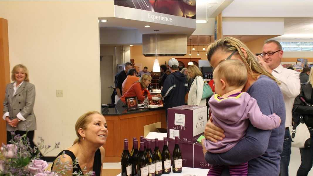 Kathie Lee Gifford, Emmy-winning co-host of the fourth hour of NBC's The Today Show shared her newly-released series of GIFFT wines with NH Liquor & Wine Outlet customers on Saturday.