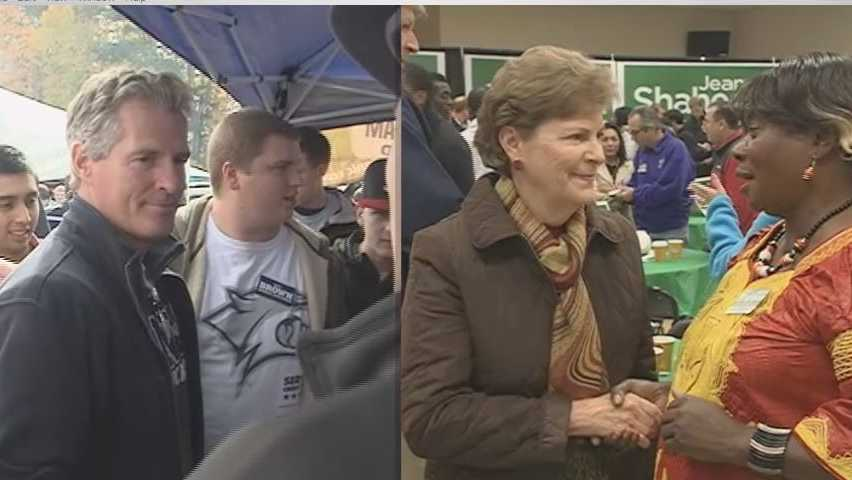 Shaheen and Brown campaigned in NH Saturday at very different locations.