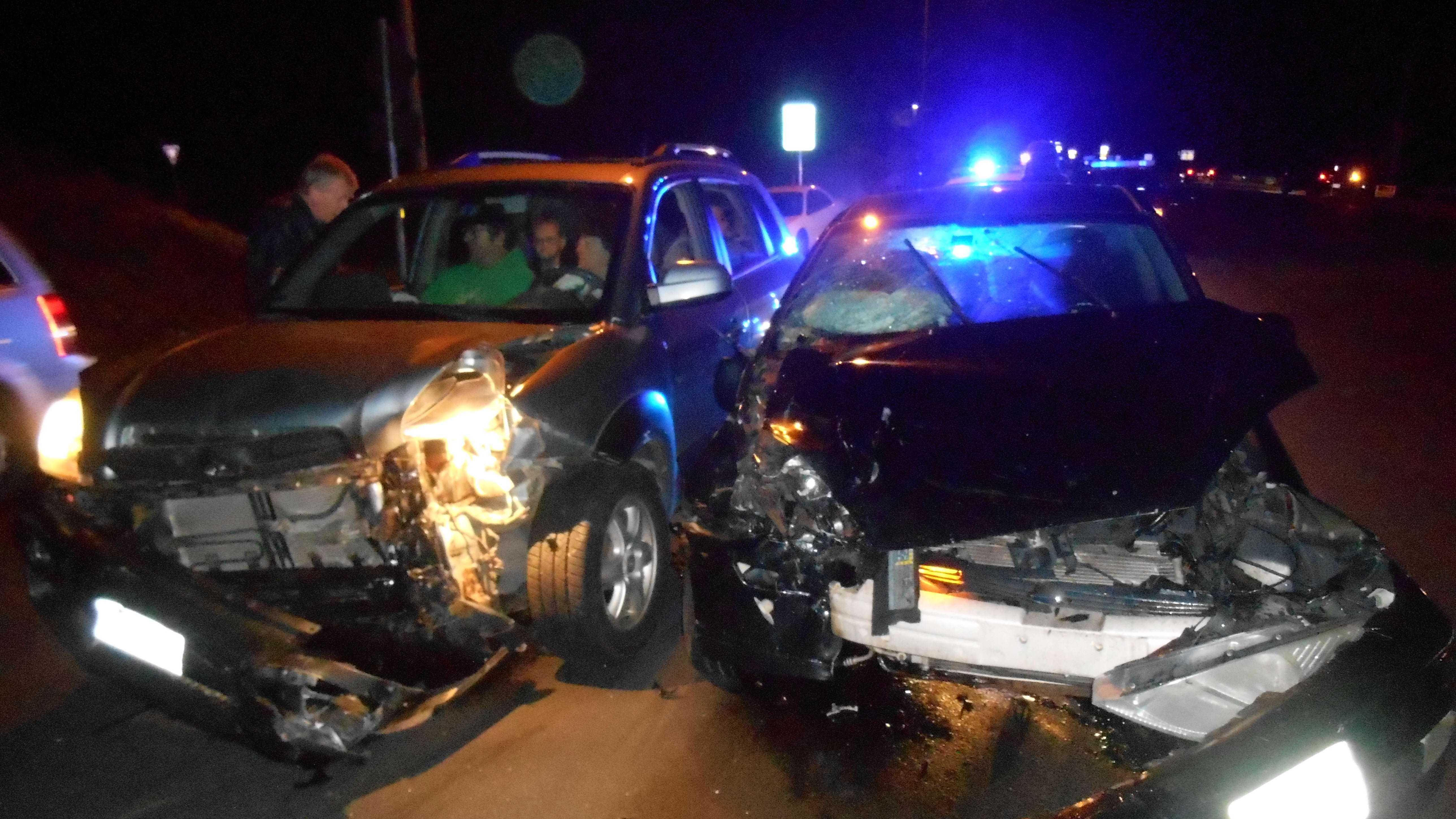 Crash injured four people&#x3B; non-life-threatening injuries.
