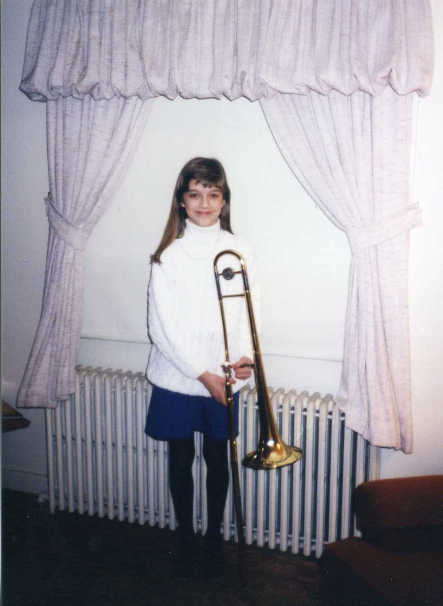 Something that might surprise you -- I played the trombone in elementary school and middle school.  I had to give it up because I wanted to be part of my school's show choir. I have since donated the instrument to a local school in Massachusetts so a student who couldn't afford to buy one, can now play!