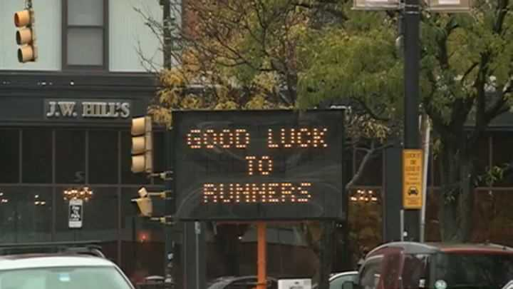 Marathon Runners Prepare for Chilly Weather