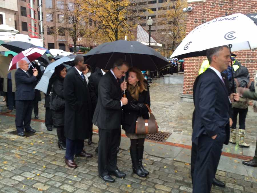 Boston residents lined up to pay their respects to the Menino family.