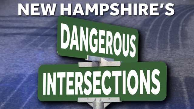 Take a look at the top-10 most dangerous urban intersections in New Hampshire, as ranked by the state's Department of Transportation Highway Safety Improvement Program.