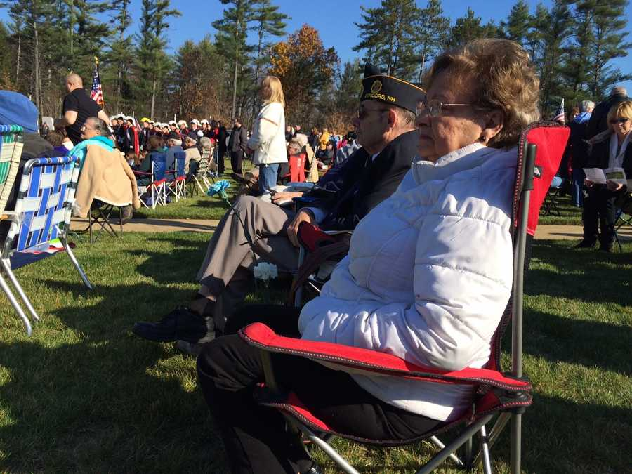 Veterans were honored and remembered at the State Veterans Cemetery in Boscawen on Tuesday.