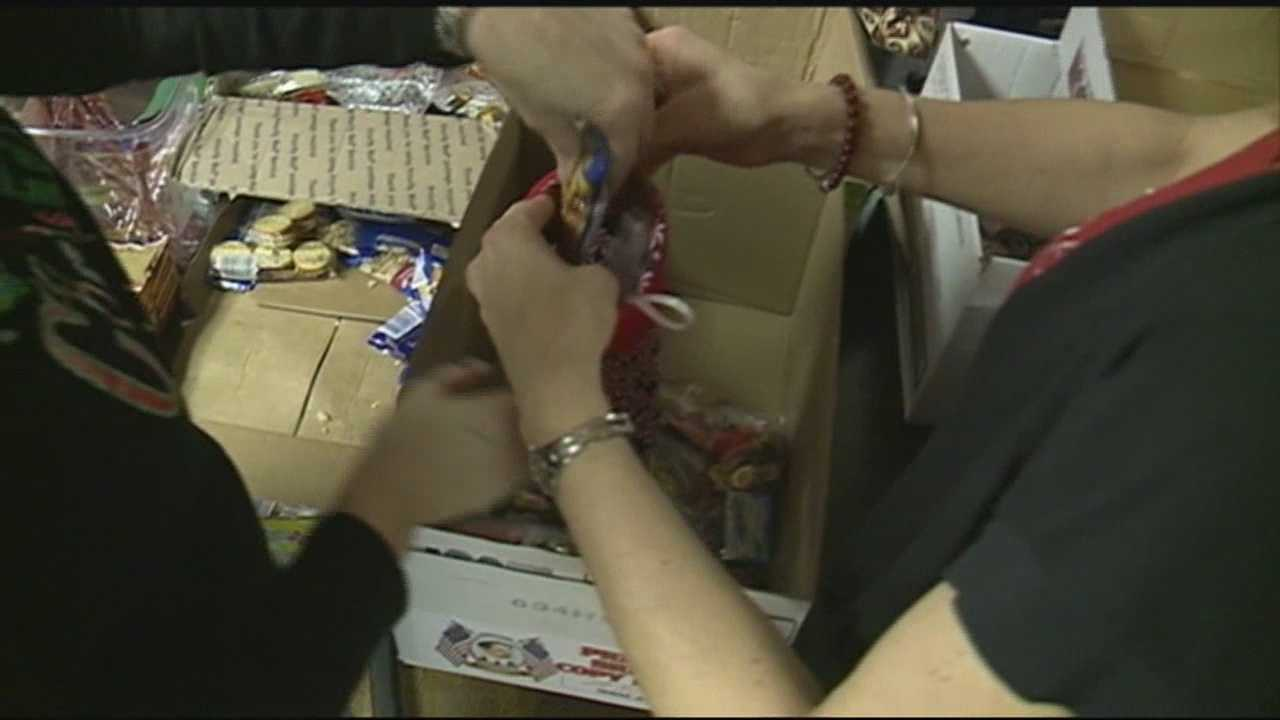 A charity group met in Epping Sunday to send stuffed stockings to service men and women overseas.
