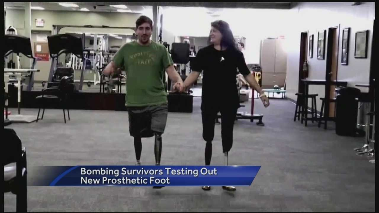 Jeff Bauman and Celeste Corcoran travel to Florida where they test out a new prosthetic foot that makes it easier to stand and walk.