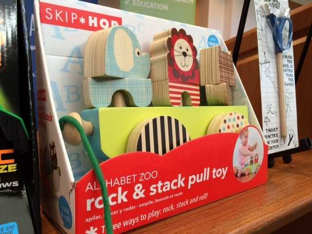 Alphabet Zoo rock and Stack Pull Toy -- potential for strangulation and entanglement injuries.