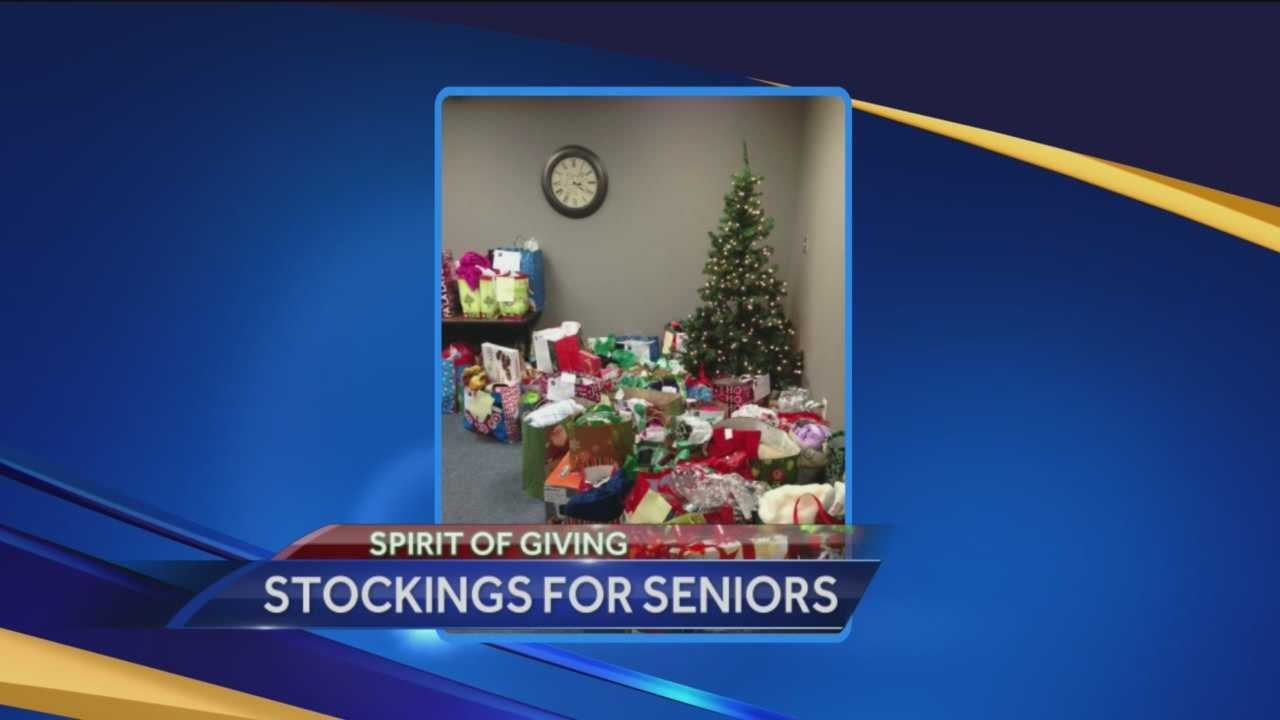 The group Stockings for Seniors connects with hundreds of seniors over the holidays.
