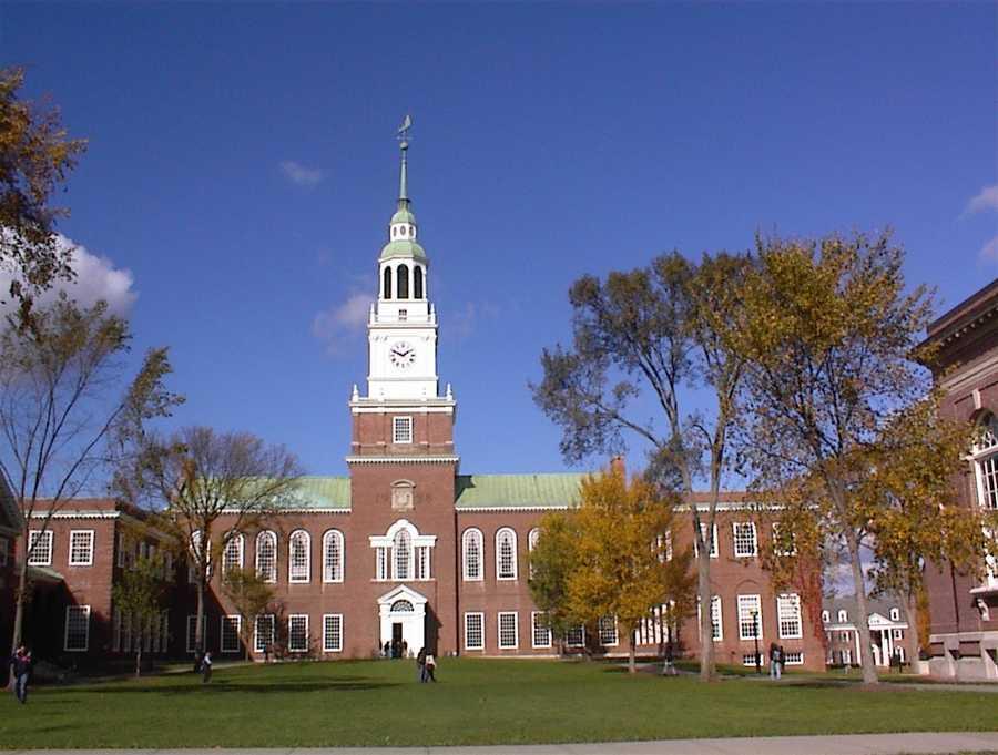 Dartmouth College, Hanover, NHAverage Debt of 2013 Graduates: $15,660