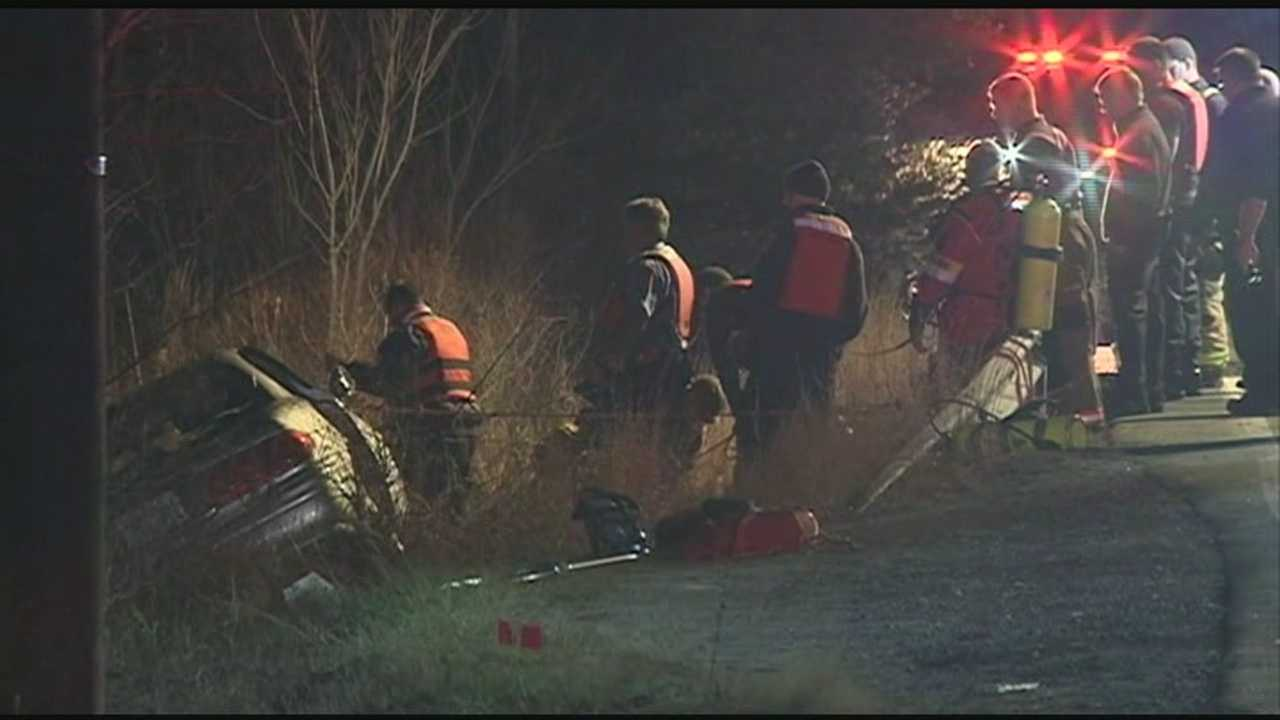 A teenager was taken to the hospital after the car he was driving flipped into water in Londonderry. WMUR's Adam Sexton reports.
