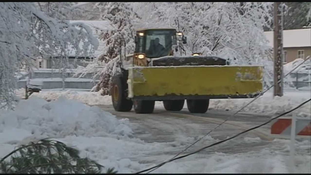 It wasn't just the heavy snow that utility crews had to deal with as they fought  to restore power -- The heavy snows brought down wires, and even set some lines on fire.
