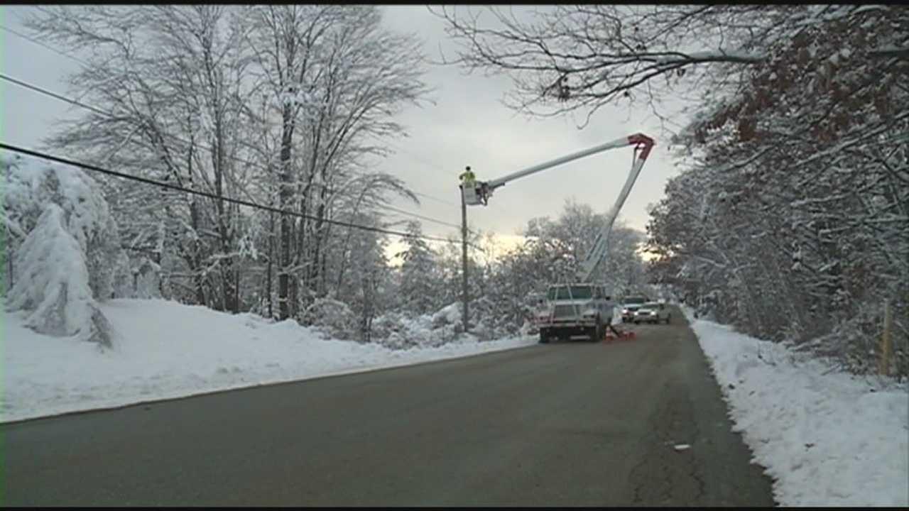 Power companies complete restoration after snow storm. WMUR's Adam Sexton reports.