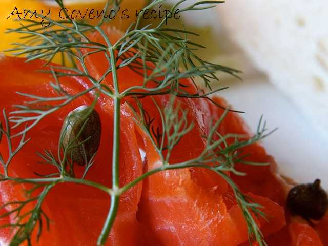 Amy Coveno likes to make smoked salmon toasts. View the recipe here.