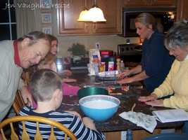 Jen Vaughn likes to bake candy cane cookies. View her family recipe here.