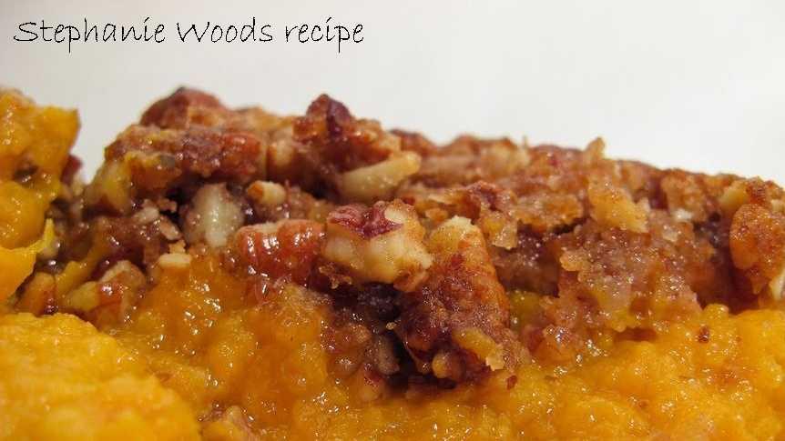 Stephanie Woods likes to make coconut sweet potato casserole. View the recipe here.