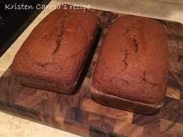Kristen Carosa likes to bake pumpkin bread. View the recipe here.