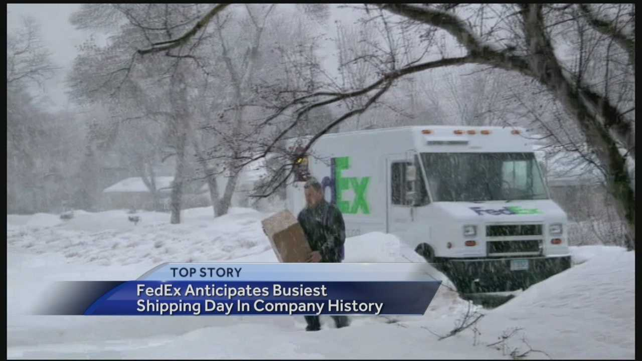 The U.S. Postal Service, Fed-Ex and UPS are all gearing up for what is expected to be the busiest shipping day of the year.