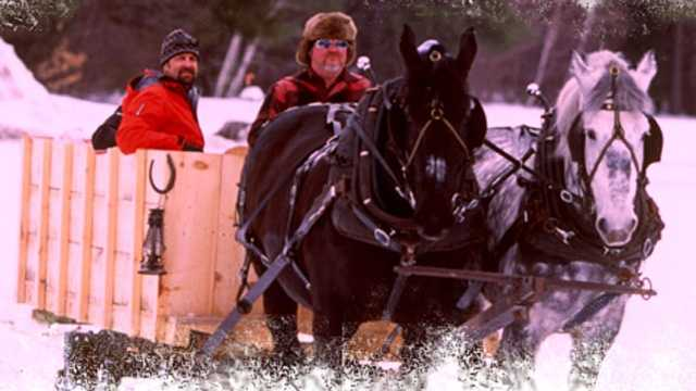 Waterville Valley Resort, Waterville Valley -- Beginning Dec. 26, Waterville Valley offers rides on a 20 passenger sleigh driven by two horses. The cost is $18 for adults and $12 for those age 2-12. It offers private sleigh rides for $185 and has a one horse-carriage that seats four, for $149 and $100 for a couple. Reservations are taken at 236-8175. More at: http://www.waterville.com/village/sleigh-rides.html.