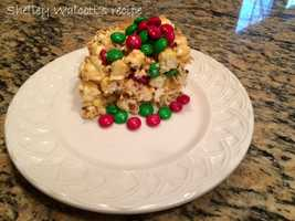 Shelley Walcott likes to make a holiday popcorn cake. View the recipe here.